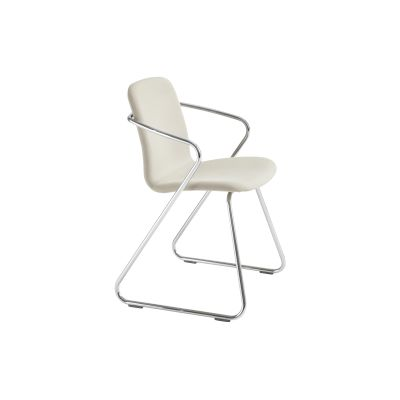 Cobra Upholstered Dining Chair Neutral and Chrome
