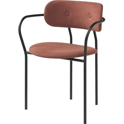 Coco Dining Chair with Armrest Tyg Eros 1 Wine 1313