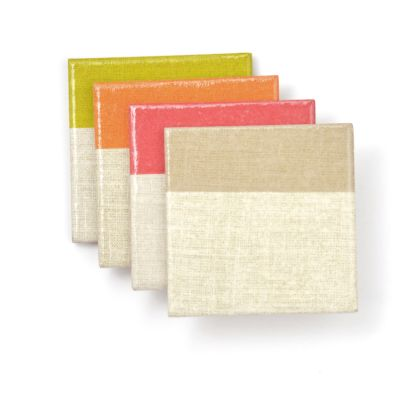 Color Block Ceramic Coasters