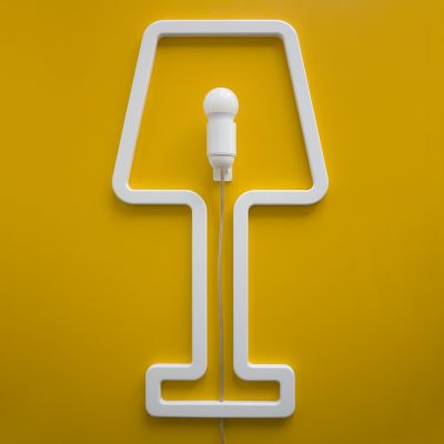 ColouredSHAPE - space saving lamp White