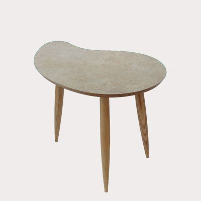 Comma Side Table Comma Table in Scruffed Grey
