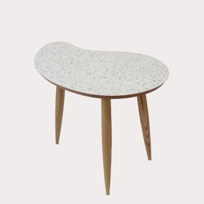 Comma Side Table Comma Table Sparkled White