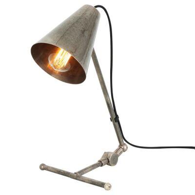 Comoro Table Lamp  Antique Silver