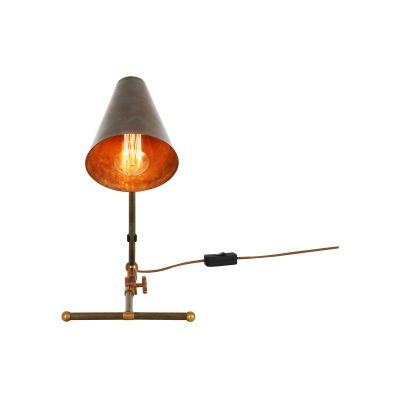 Comoro Table Lamp Satin Brass, UL Plug