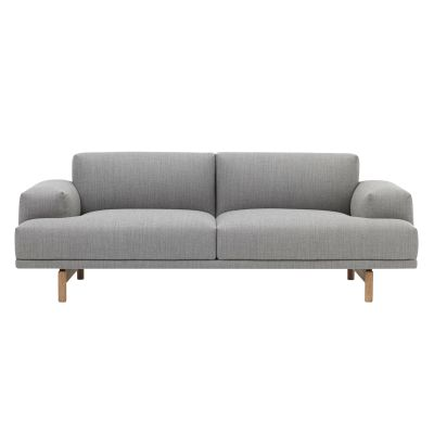 Compose 2 Seater Sofa Wooly bottle green 1011