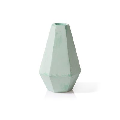 Concrete Candle Holder Green, Tall