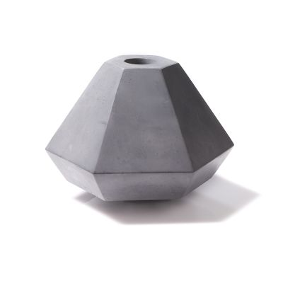 Concrete Candle Holder Grey, Short