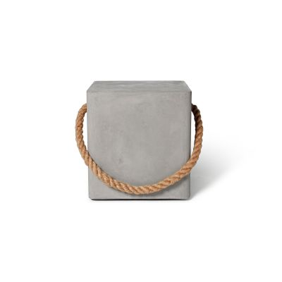 Concrete Soft Edge Stool with Wheels & Rope