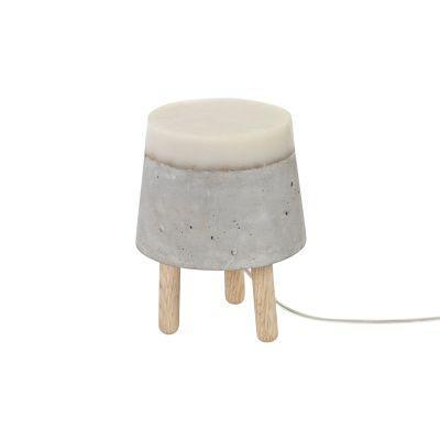 Concrete Table Lamp Small