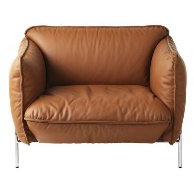 Continental Easy Chair White Steel, Main Line Flax Newbury