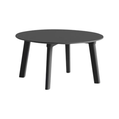 Copenhague Deux (CPH 250) Round Coffee Table Stone Grey Laminate Top, Stone Grey Beech Base