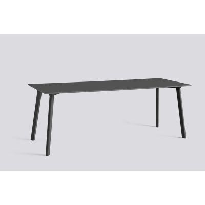 Copenhague Deux (CPH210) Rectangular Dining Table Stone Grey Laminate Top, Stone Grey Beech Base, 200cm