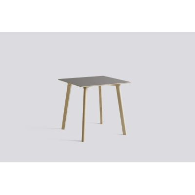 Copenhague Deux (CPH210) Square Dining Table Pearl White Laminate Top, Pearl White Beech Base