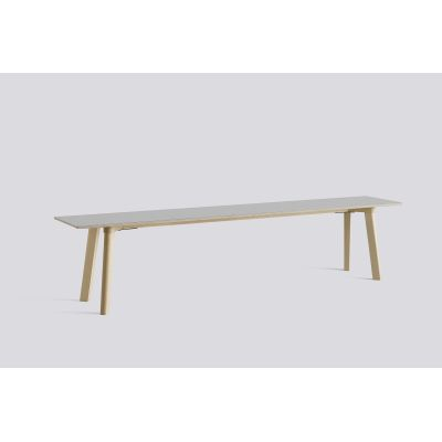Copenhague Deux (CPH215) Bench Dusty grey laminate, Untreated Beech, 200