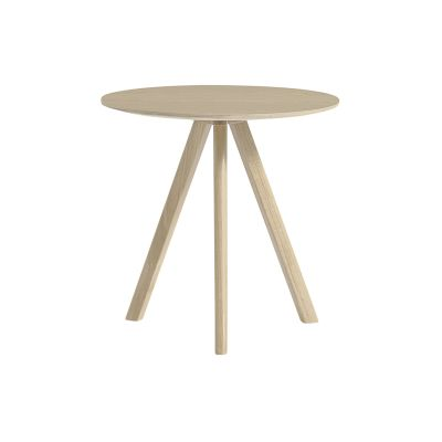 Copenhague Veneer Top Round Coffee Table CPH20 Matt Lacquered Oak