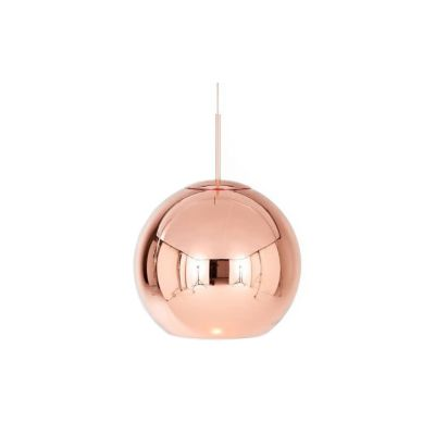 Copper Round Pendant Lamp Copper 25cm