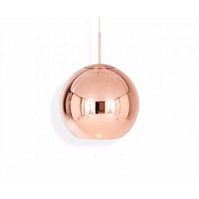 Copper Round Pendant Light - Ex display 45cm