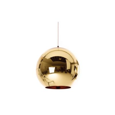 Copper Round Pendant Light Copper, Large