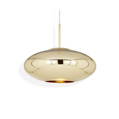 Copper Wide Pendant Lamp Gold