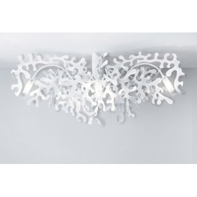 Coral P Ceiling Light 131 Silver Foil