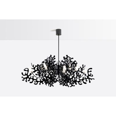 Coral Pendant Light 112 Glossy Black