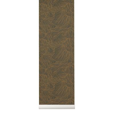 Coral Wallpaper - Set of 2 Rolls Dark Green/ Gold