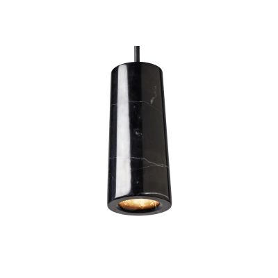 Core Single Pendant Light Nero Marquina Marble