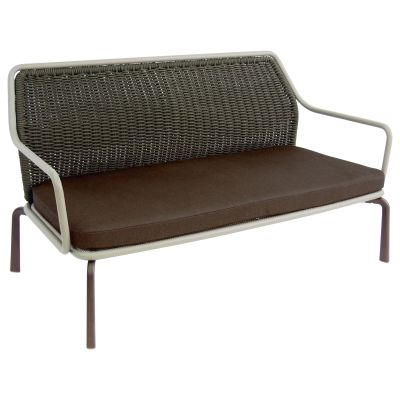 Cross 2 Seater Sofa Cement 73, Cement 56, Indian Brown 41