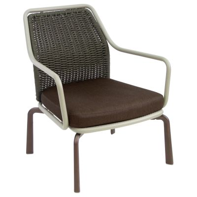Cross Lounge Chair Cement 73, Cement 56, Indian Brown 41