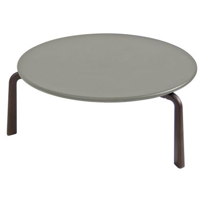 Cross Round Coffee Table ø80, Cement 73, Indian Brown 41
