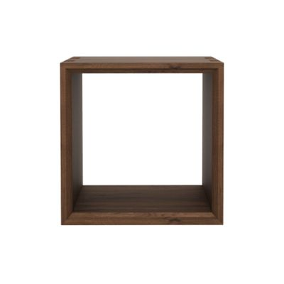 Cube Closed Side Table Walnut