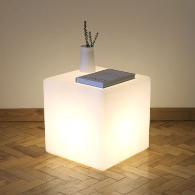 Cube Floor Lamp/Side Table Cube Lit Table