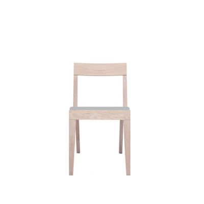 Cubo Chair With Upholstered Seat Oak, Light Grey