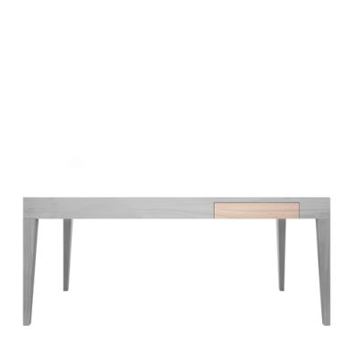 Cubo Rectangular Table With Drawer Oak, Light Grey