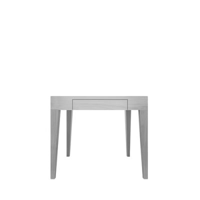 Cubo Square Table With Drawer Oak, Light Grey