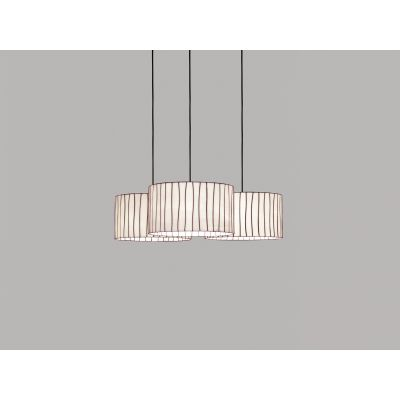 Curvas CV04-3 Chandelier Red, Transparent Cable