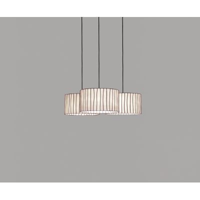 Curvas CV04C-3 chandelier Black, Transparent