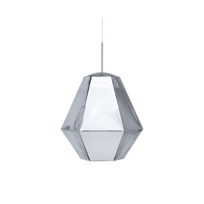 Cut Tall Pendant Lamp Chrome