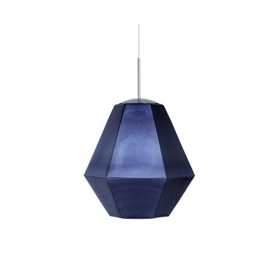 Cut Tall Pendant Lamp Smoke