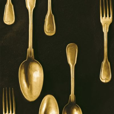 Cutlery Brass Wallpaper