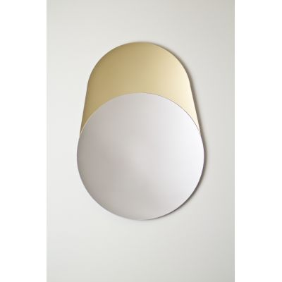 Cylinder Mirror in Gold and Silver