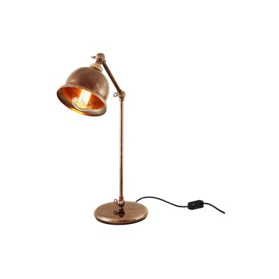 Dale Table Lamp Powder Coated Black, UL Plug