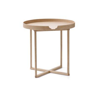Damien Round Side Table Oak