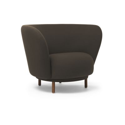 Dandy Armchair Walnut Stained Beech, Luna 2 Colour 04006