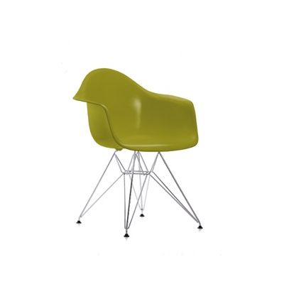 DAR Side Chair 30 Basic dark powder-coated, 21 Ocean, 05 Felt glides basic dark for hard floor