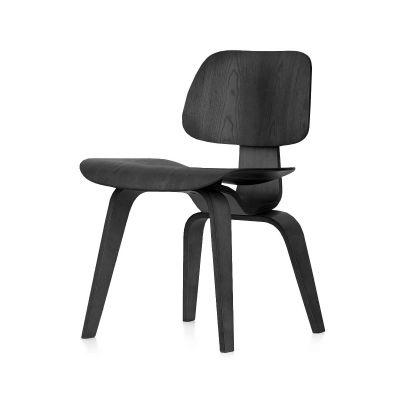 DCW Chair 03 Plywood Black ash, 05Felt glides for hard floor
