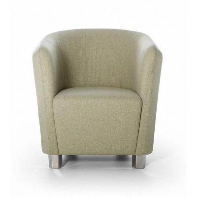 Decofutura Small Armchair B0184 - Leather Indigo Trip black - T, Natural Ash