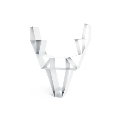 Deer Metal Shelf White, Small