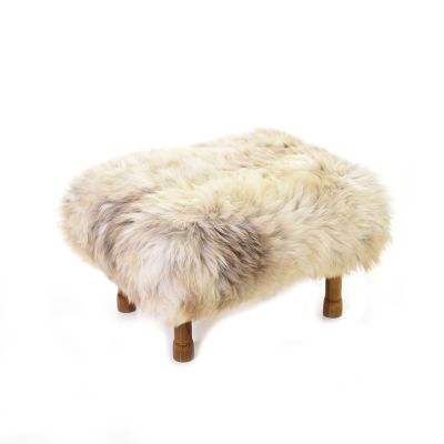 Delyth Sheepskin Footstool  Rare Breed