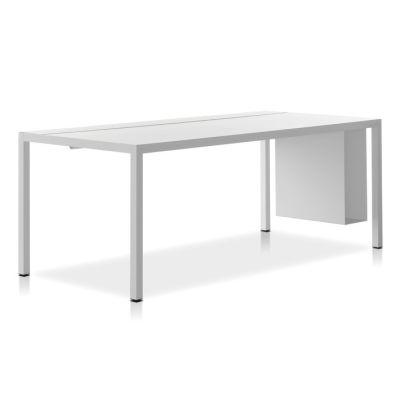 Desk 3.0, Cable Management Top HPL Black Top & Matt Graphite Grey Frame, 90x220cm